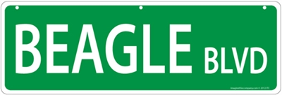 "Beagle Street Sign ""Beagle Blvd"""