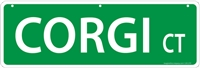 "Corgi Street Sign ""Corgi Ct"""