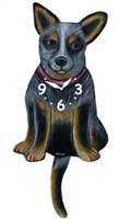 Australian Cattle Dog Wagging Tail Clock www.SaltyPaws.com