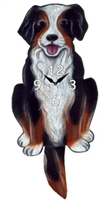 Bernese Mountain Dog Wagging Tail Clock www.SaltyPaws.com