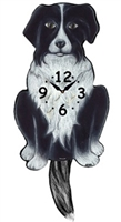 Border Collie Wagging Tail Clock www.SaltyPaws.com