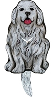 Great Pyrenees Wagging Tail Clock www.SaltyPaws.com