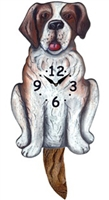 Saint Bernard Wagging Tail Clock www.SaltyPaws.com