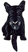Scotty Wagging Tail Clock www.SaltyPaws.com