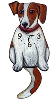 Jack Russell Terrier Wagging Tail Clock www.SaltyPaws.com