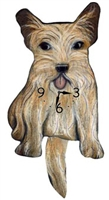 Cairn Terrier Wagging Tail Clock www.SaltyPaws.com