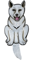 Akita Wagging Tail Clock www.SaltyPaws.com