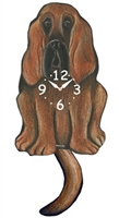 Bloodhound Wagging Tail Clock www.SaltyPaws.com