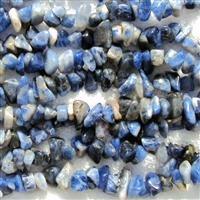 Sodalite chip bead string 36""