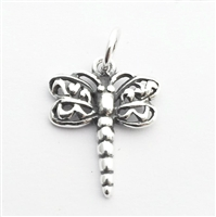dragonfly charm st. silver