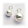 (pk 2) 4mm ball charms st. silver