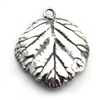 natural leaf charm st. silver