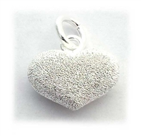 14m puff heart stardust st. silver