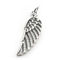 angel wing double sided charm