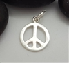 peace charm st. silver