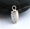 sterling silver owl 3D charm
