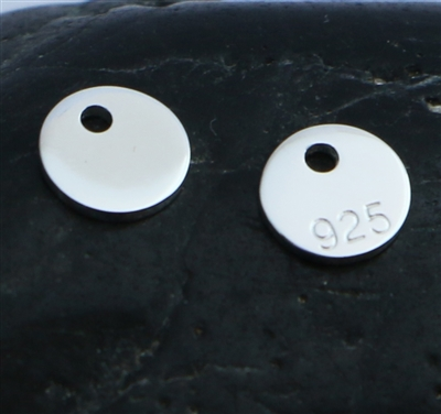 6mm st. silver disc charm