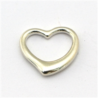 Empty Heart Sterling Silver charm