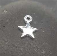 (2 pcs) sterling silver star charm