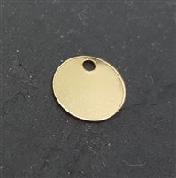 7mm gold filled disc 1.2mm hole