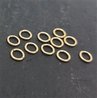 4mm gold filled jump rings closed 22 gauge (10)
