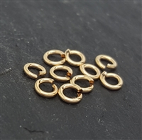 4mm click and lock jump rings open gold filled (10)