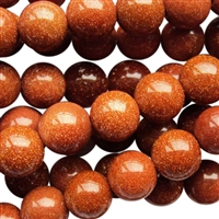 Goldstone round bead string