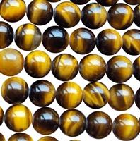 Yellow tigereye round bead string