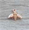 rose gold on sterling bee charm