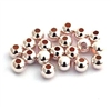 (20) 3mm round st. silver beads