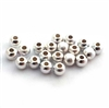 (20) 3mm round silky satin st. silver beads