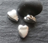st silver long heart bead (1 pc. )
