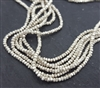 "Hilltribe st. silver seed beads 12.5"" string"
