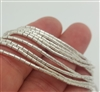 "Hilltribe st. silver tube beads 28"" string"