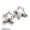 star shaped bead st. silver