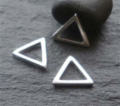 Sterling Silver triangle connector