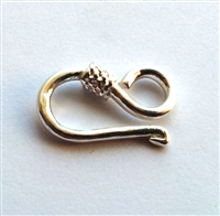 sturdy st. silver S hook clasp
