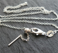 "Adjustable slider bead ""add your own charms"" chain necklace"