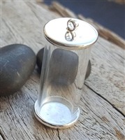 Sterling silver glass vial kit