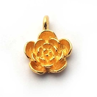 flower charm gold on st. silver
