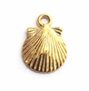 gold on st. silver shell charm