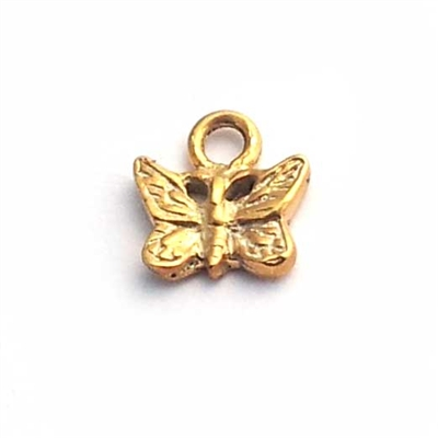 gold on st. silver baby butterfly charm