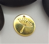 gold plated dandelion charm