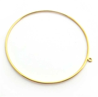 lrg bangle w/loop gold vermeil
