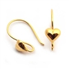heart ear wires gold vermeil