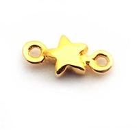 mini star connector gold on silver