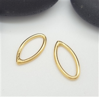 ( pk 2 )12mm gold marquis ring