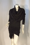 Black Cowl Neck Dress