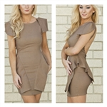 "Peplum ""Mocha"" Dress"