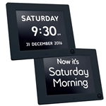 Alzheimer's dementia patient digital calendar day clock